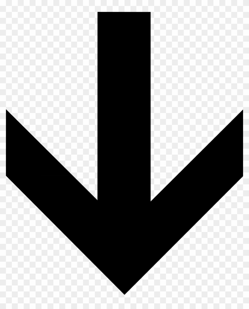 Down Arrow Solid Direction Transparent Image - Arrow Copy And Paste #281951