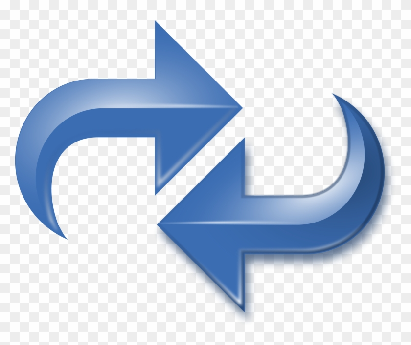 Arrows Double Reversed Blue Png Images Reverse Arrows Free Transparent Png Clipart Images Download