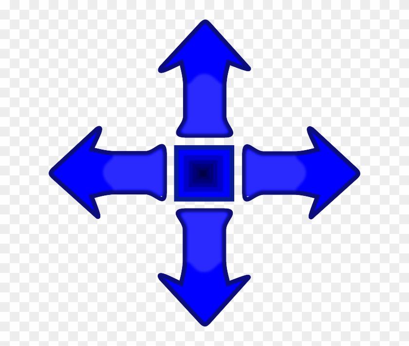 Controller, Blue, Arrow, Buttons, Game, Smooth - Game Controller Arrow #282043