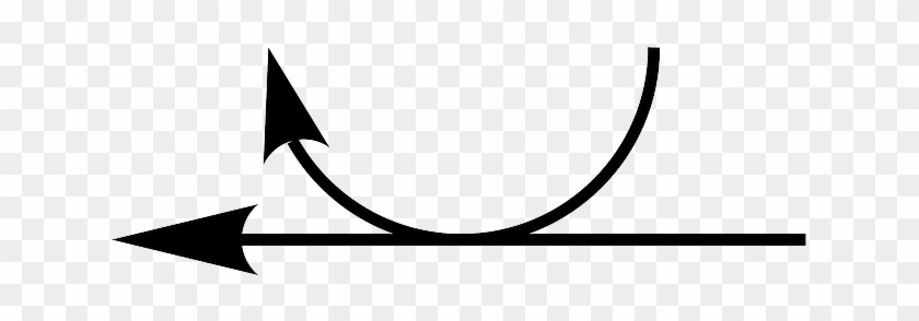 Thin, Left, Arrow, Double, Round, Arrows, Links - Thin Curved Double Arrow #282225