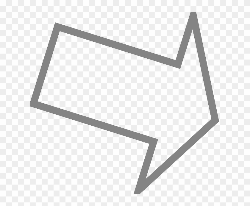 Right Outline Arrow Down Direction Pointing Arrow Pointing
