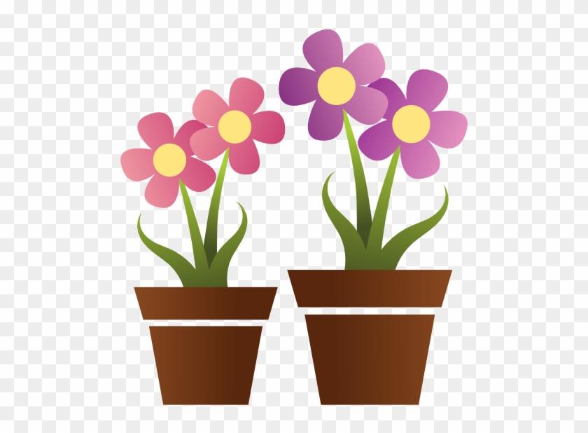 Plant Clipart Cute Flower - Flower With Pot Clipart #282248