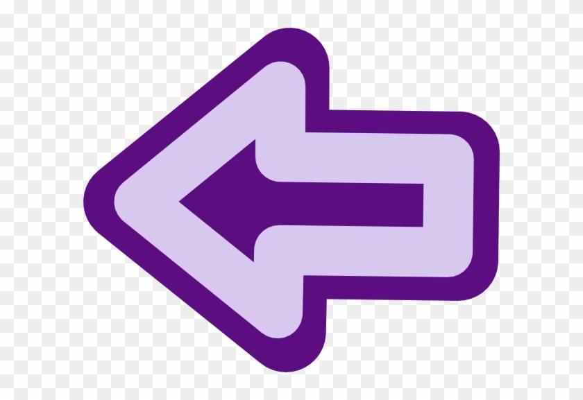 Left Button Svg Clip Arts 600 X 497 Px - Purple Back Button Png #282322