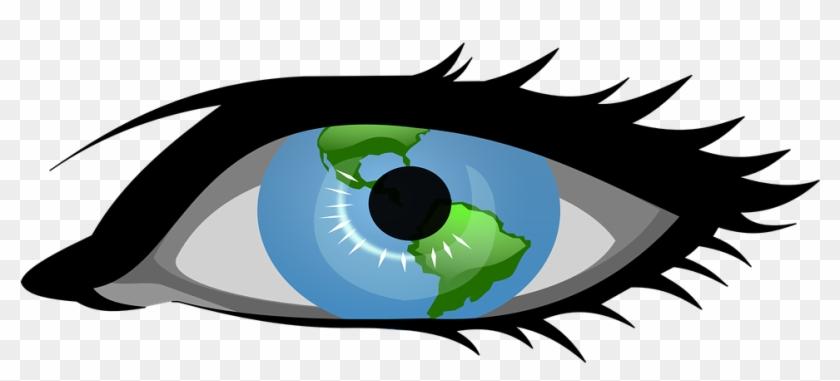Cartoon Eye Ball 22, - Blue Eye Clip Art #282347