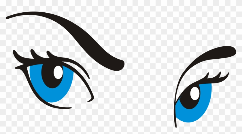Clip Art Eyes And Eyebrows Clipart - Cartoon Eye With Eyebrow #282372