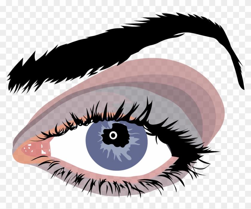 Cartoon Eye Ball 23, - Blue Woman Eyes Png #282424