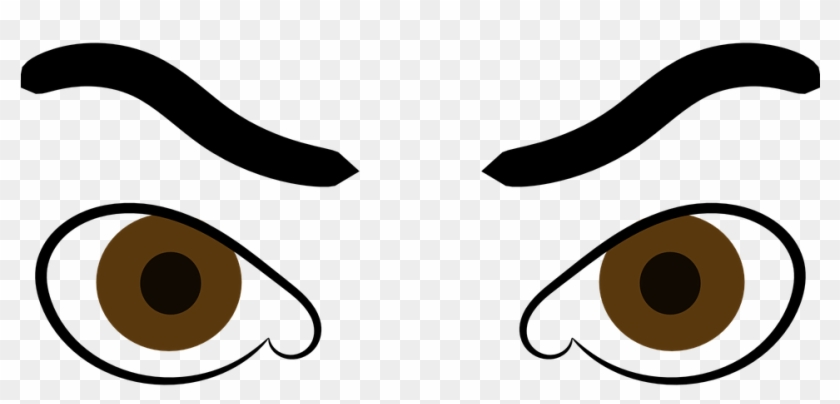 Angry Cartoon Eyes - Angry Eyes Clipart #282426