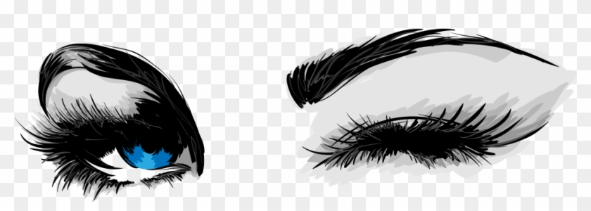Mascara Cosmetics Eyelash Business Card Eye Liner - Drawing Of Eyes Winking #282429
