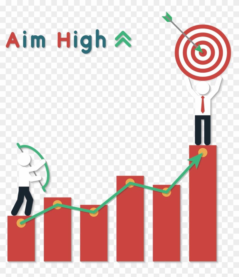 Bar Chart Clip Art - High Target #282470