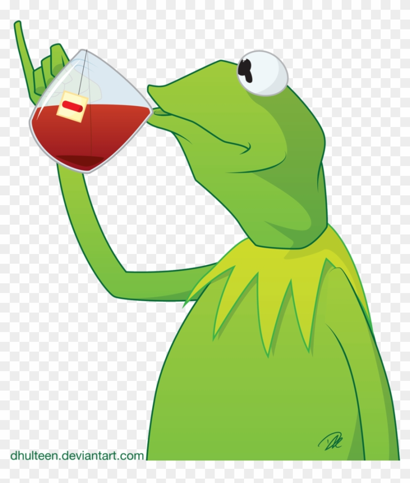 Tea Exploitable By Dhulteen On Deviantart - Kermit The Frog Drinking Tea Drawing #282666