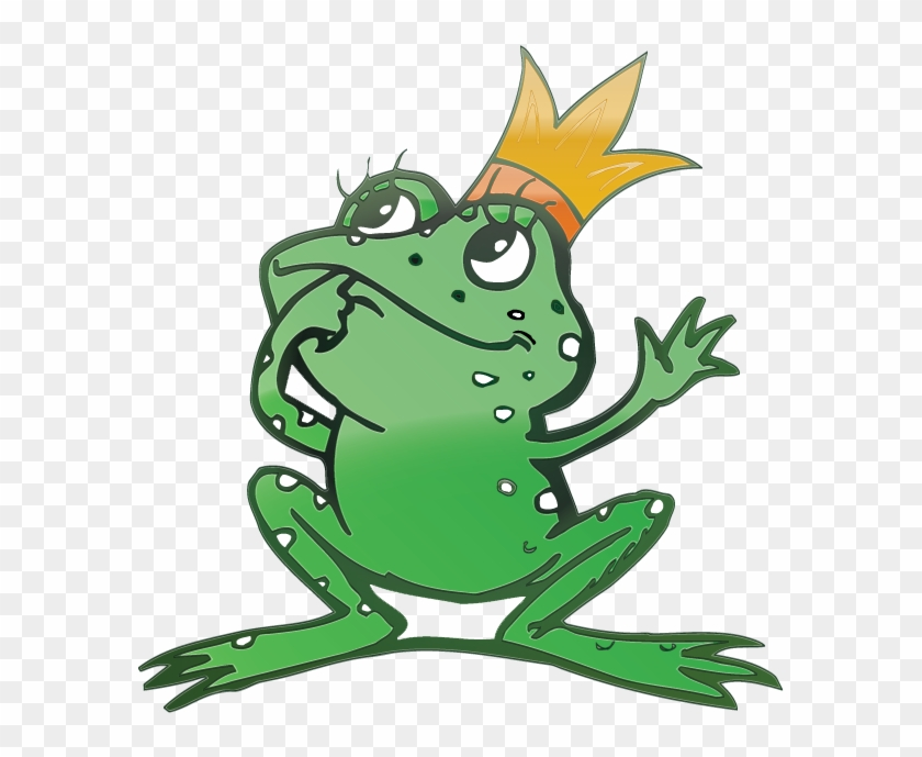 Vector Cartoon Frog Prince Free Vector - Frog Prince Embroidery Design #282838
