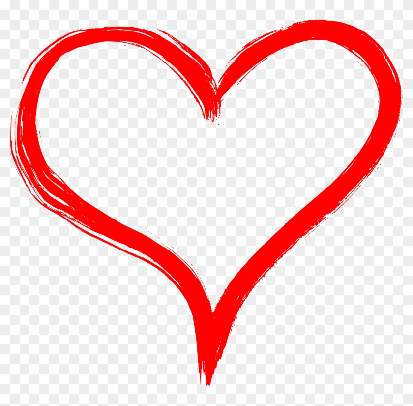 Free Download - Heart Hand Drawn Png #282959