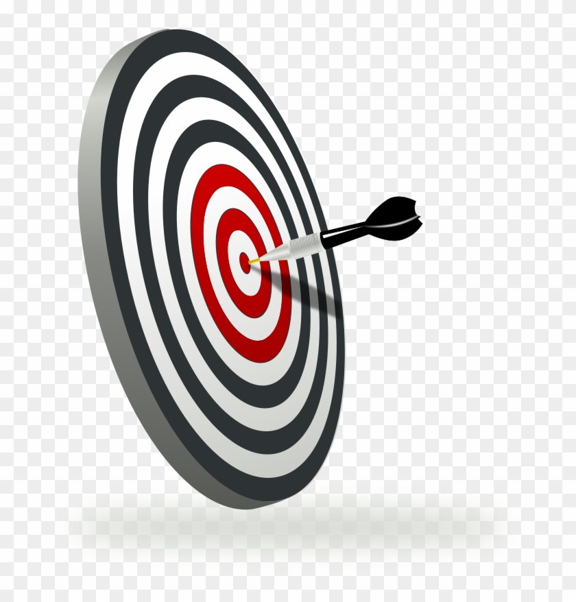 A Target With A Dart Clipart, Vector Clip Art Online, - Law Of Action: How To Hit Your Target Every Time #283066