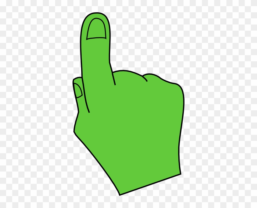 Pointing Hand Green Clip Art At Clker - Green Hand Pointing Clipart #283162