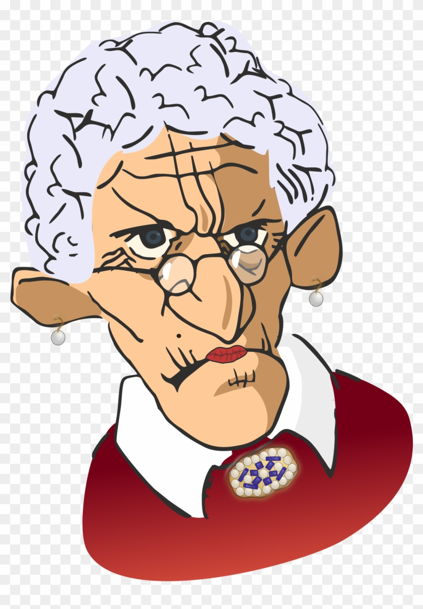 Old Lady Clip Art - Grumpy Old Woman Clipart #283281