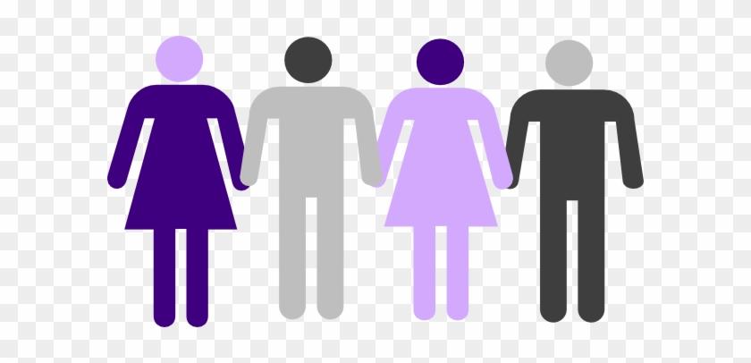 Men Women Holding Hands Clip Art Gender Neutral Bathroom Symbol