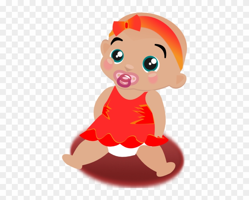 Free Vector Baby Girl Clip Art - Animation Baby Girl #283574