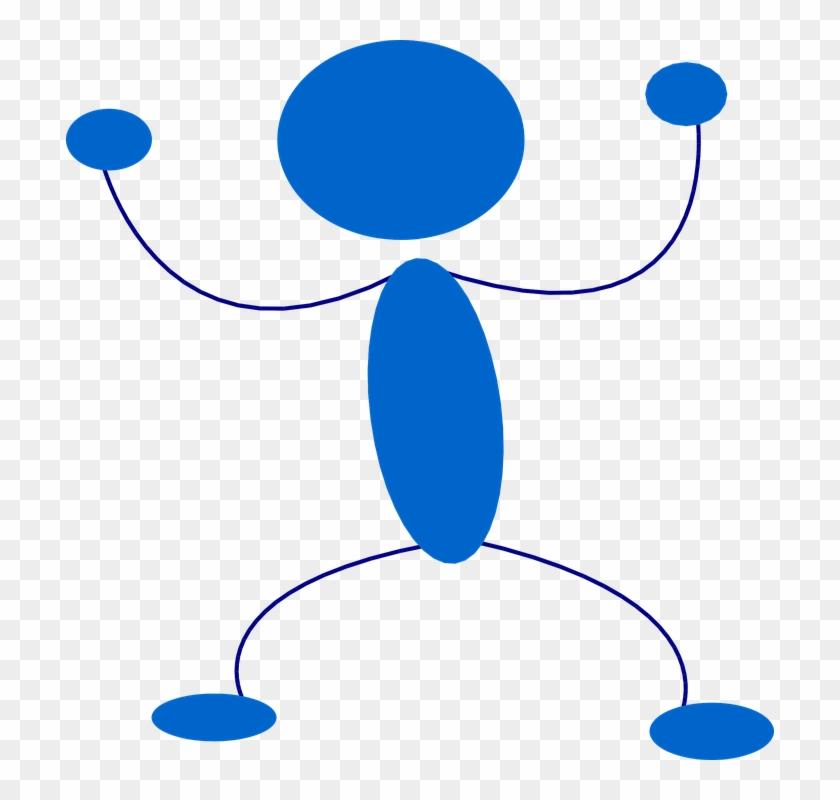 Stickman Running Cliparts 23, Buy Clip Art - Blue Man Stick Figure #283623