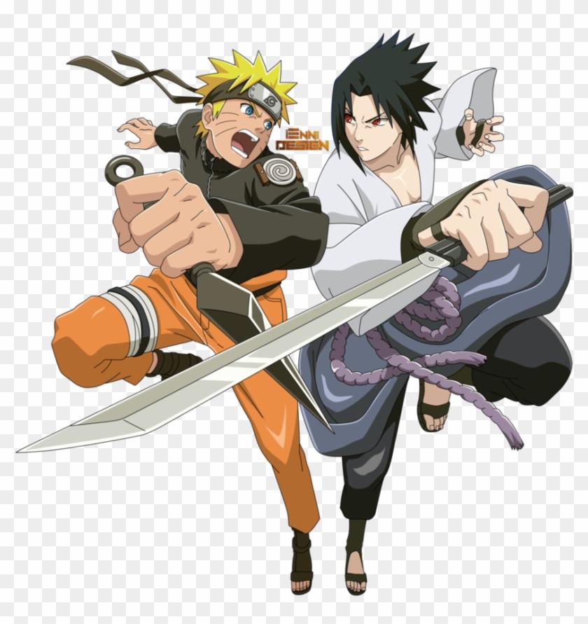 Naruto Shippuden Png Clipart - Naruto Shippuden Naruto And Sasuke #283824