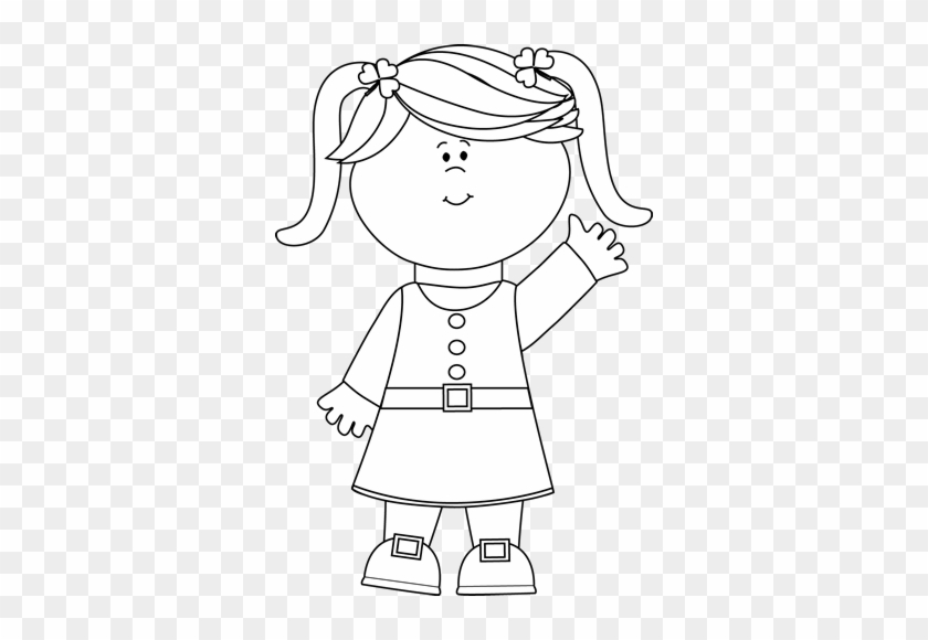 Mycutegraphics Girl Black And White #283985