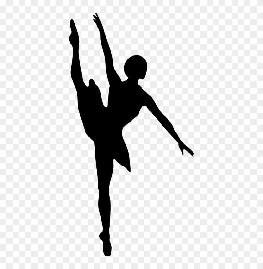 Ballet Shoes Black And White Clip Art Sdqmkq - Ballet Dancer Silhouette #283987