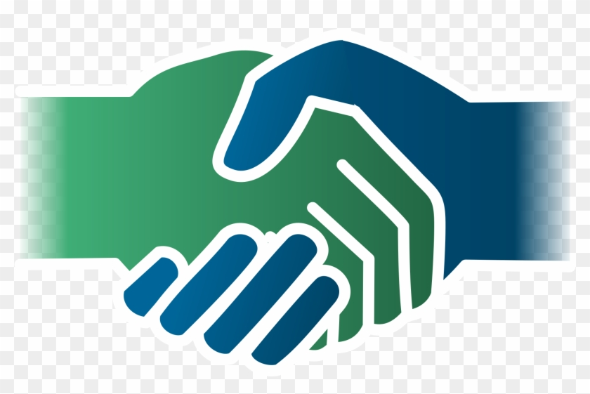 Dentsu-svg Deal - Handshake Icon Blue Green #284134