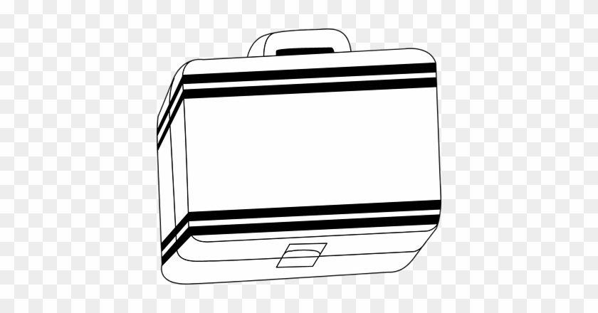 Lunch Box Clipart Black And White - Black And White Lunch Box #284152