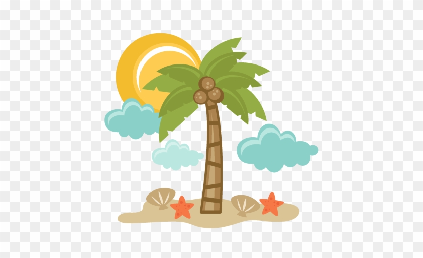 Beach Scene Svg Files For Scrapbooking Palm Tree Svg - Miss Kate Cuttables Beach #284268
