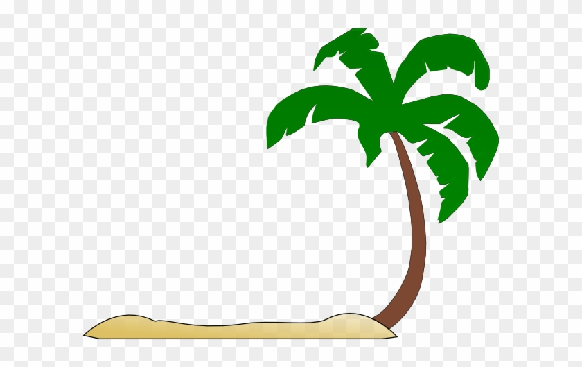 Beach - Palm Tree Beach Clip Art #284275