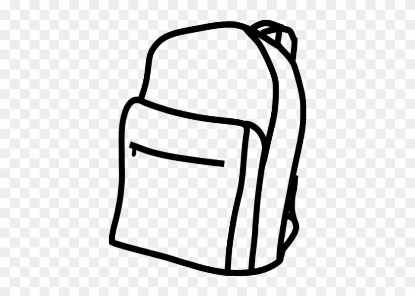 Backpack Clipart Black And White Free Clipart Images - Backpack Clipart Black And White #284343