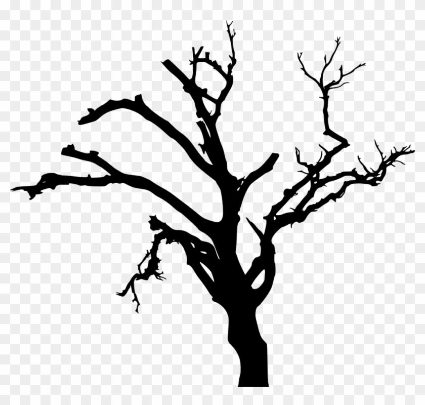 10 Spooky Dead Tree Silhouette Vol - Dead Tree Silhouette Png #284388