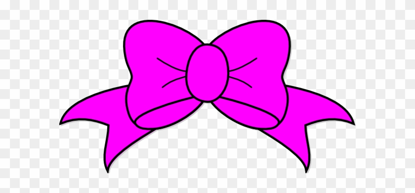 Neoteric Design Pink Bow Clipart Clip Art At Clker - Hair Bow Svg File #284553