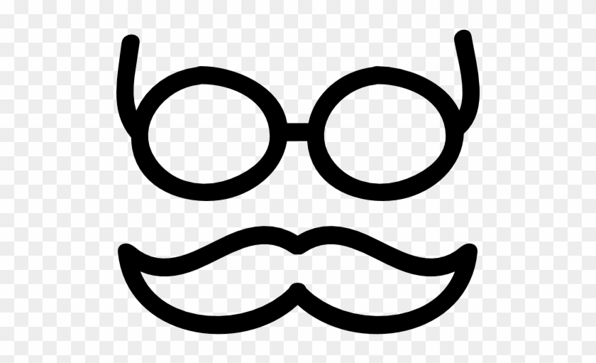 Mustache And Glasses Hand Drawn Outlines Vector - Hand Drawn Glasses #284577