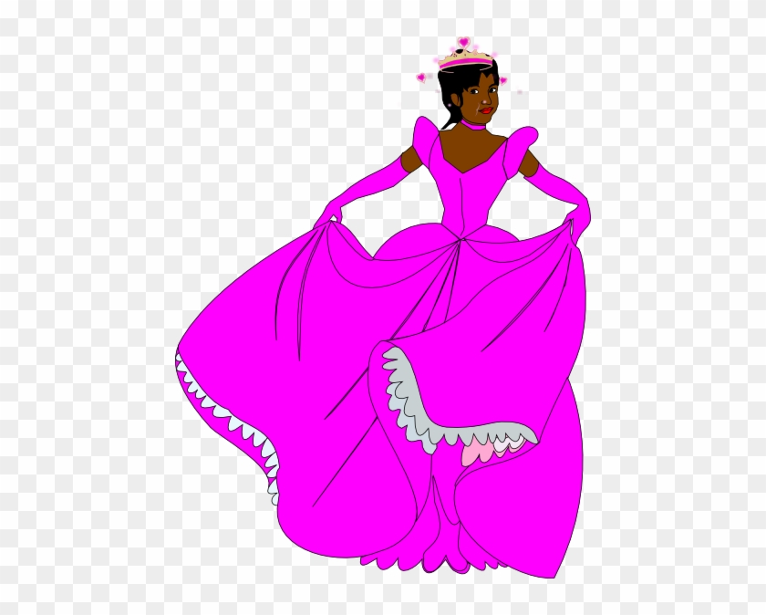 Princess Clip Art At Vector Clip Art - African American Princess Clip Art #284591