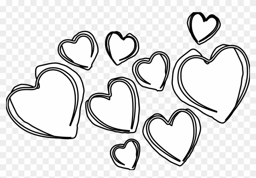 Heart Clipart Black And White Valentines Day Clipart Black And