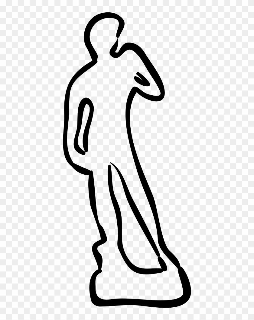David Statue Hand Drawn Outline Comments - David Outline #284622