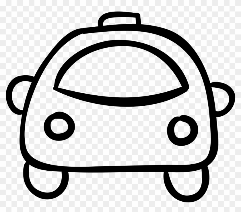 Car Hand Drawn Rounded Outlined Vehicle Comments - Caritas Kawaii Para Pintar #284666
