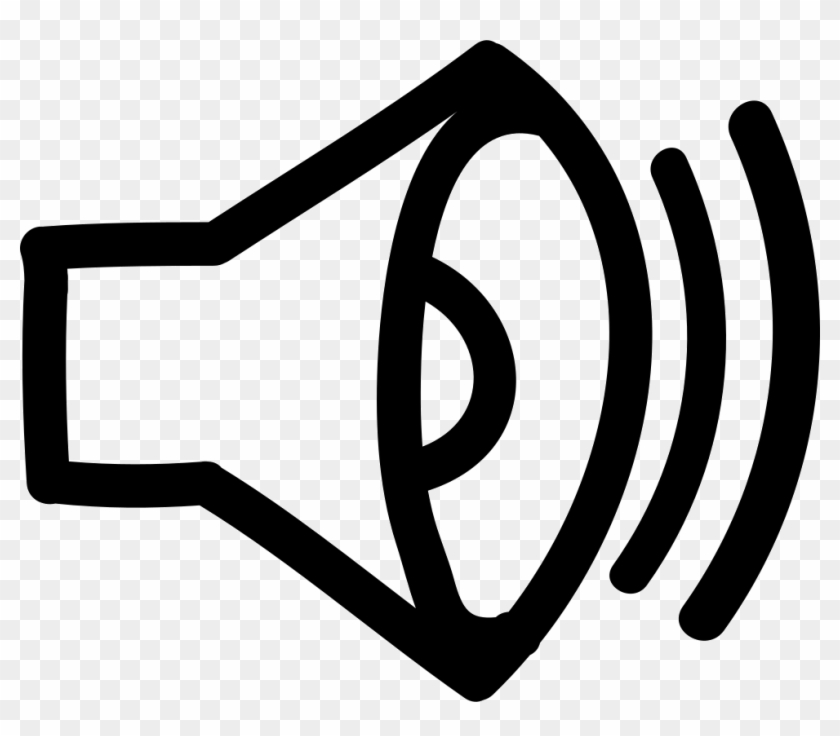 Sound Hand Drawn Interface Symbol Comments - Sound Speaker Logo #284796