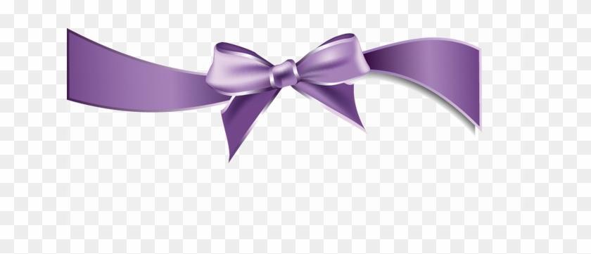 фиолетовый бант