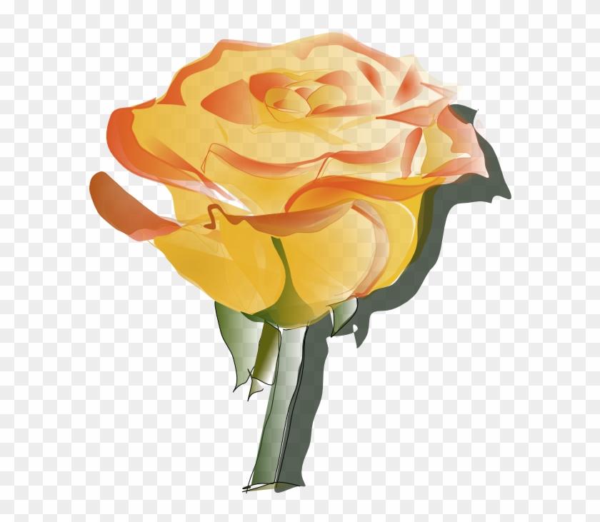 Orange Flower Clipart Animated Flower - Yellow Rose Tattoo Designs #285148