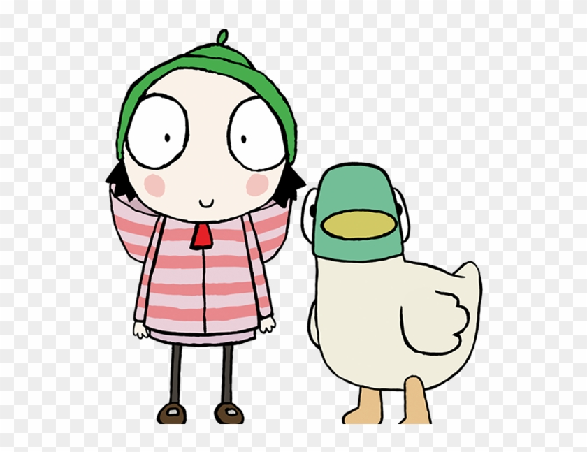 Sarah & Duck Coloring Pages - GetColoringPages.com | 647x840