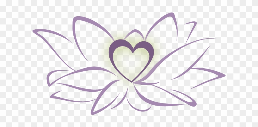 Clip Art - Lotus Flower With Heart #285417