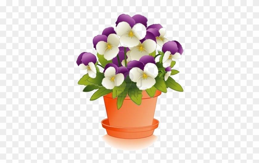 Pot Plant Clipart Flower Basket - Flower Pot #285476