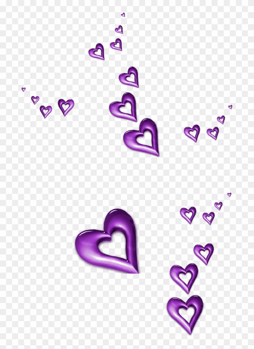 Hearts Ornaments Png Clipart, Is Available For Free - Purple Hearts Clip Art #285513