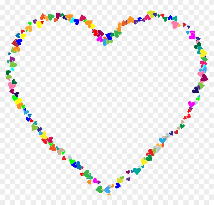 Hearts Clipart Heart Frame - Glitter Gif Rainbow Heart - Free ...