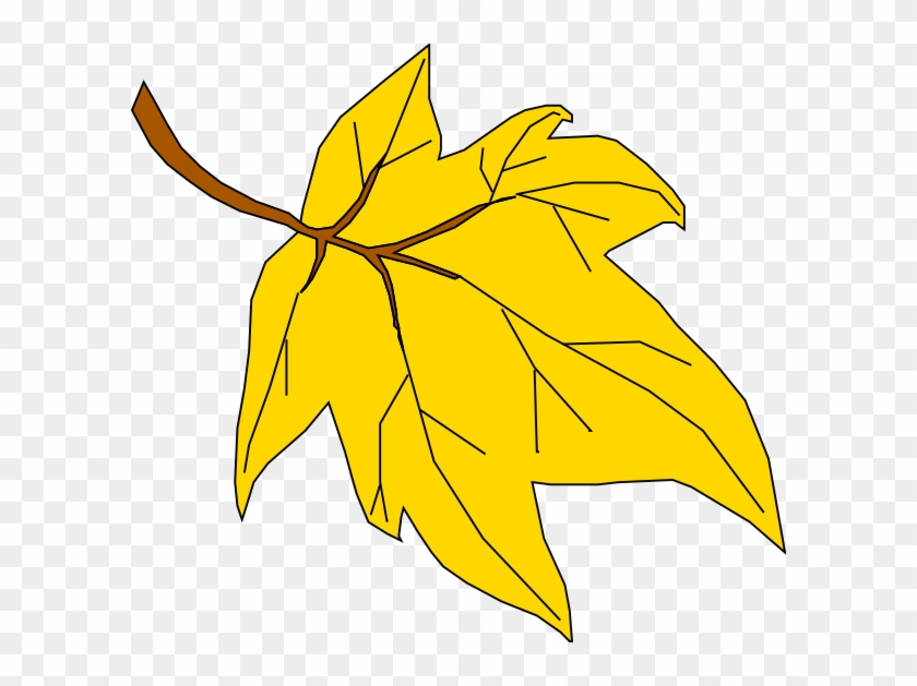 Fall Leaves Cartoon - Yellow Fall Leaf Clipart #286069