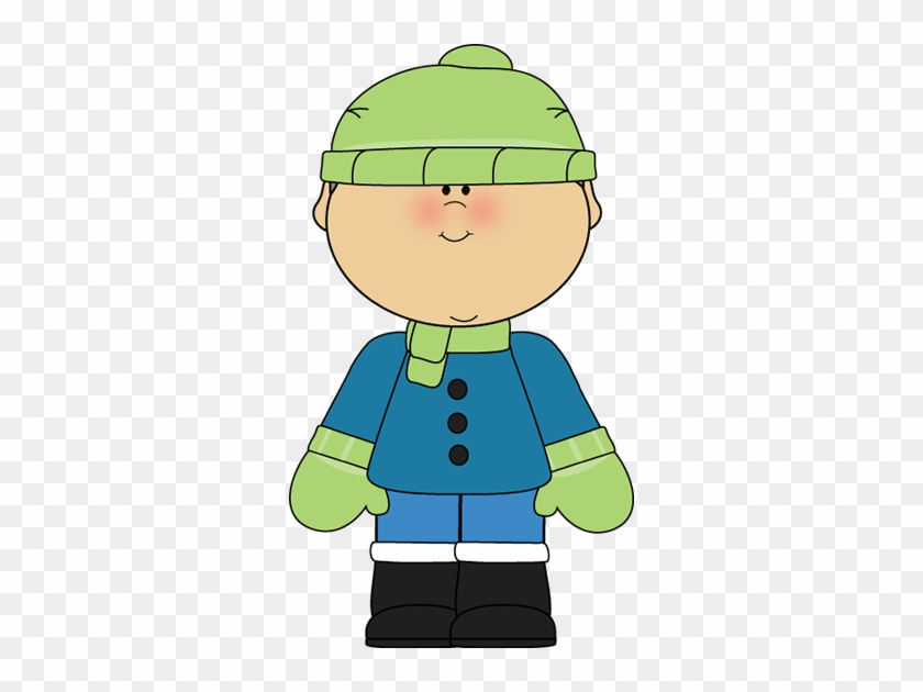 Dress For The Weather Clipart - Winter Boy Clipart #286174