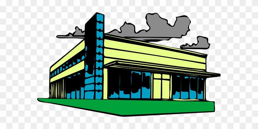 Building Factory Workshop Company Plant Pr - Commercial Real Estate Clip Art #286318