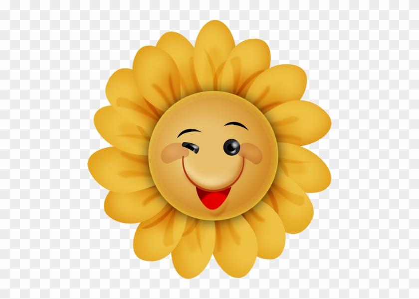 Happy Sunshineflower Clipartsmiley - Smiley Face Flower Clipart #286469