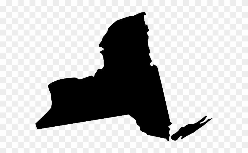 New York Black State Shape Clip Art - New York Black State #286509